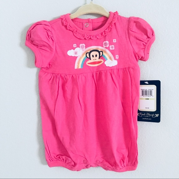 e414380bc Paul Frank One Pieces | Pink Azalea Baby Girl Romper Size 36m | Poshmark